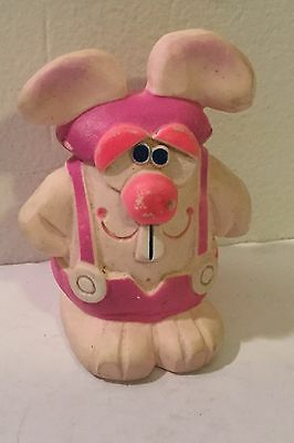 Vintage 1979 Dudley Squeeze Toy Advertising Figure Rabbit Old