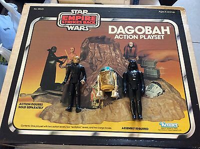 Vintage Star Wars The Empire Strikes Back DAGOBAH ACTION PLAYSET in box 3 figure