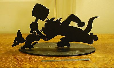 RARE Tom & Jerry Metal Sculpture Signed Numbered Warner Bros Store Exclusive