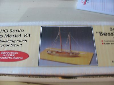 "HO Scale Ship Model Kit Schooner ""Bessie N. Marie"""