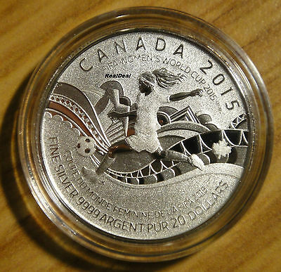#16 in series with folder 2015 CANADA $20 for $20 FIFA Women/'s soccer coin