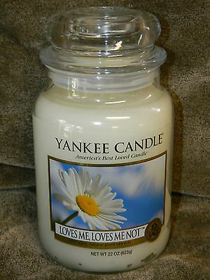 Yankee Candle 22 oz Large Jar Candle  New --- Loves Me Loves Me Not