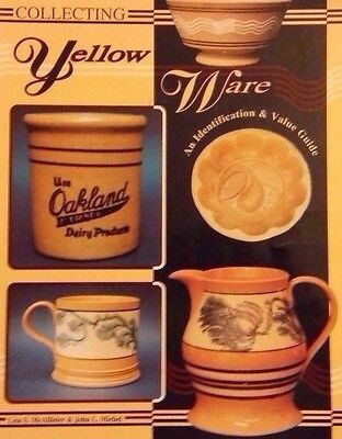 YELLOW WARE ID VALUE GUIDE COLLECTOR'S BOOK Bowl Mold Cup Mug Rolling Pin Flask+