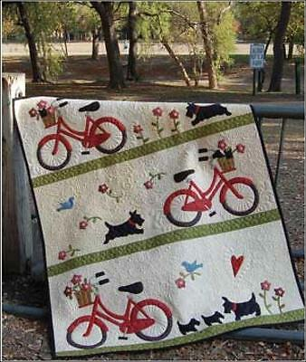 Stowaways Quilt Scotty Dog Bike Bicycle Applique Quilting Pattern