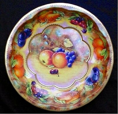 1971 Vintage Daher Decorated Ware Lithographed Tin Bowl In Fruit Pattern