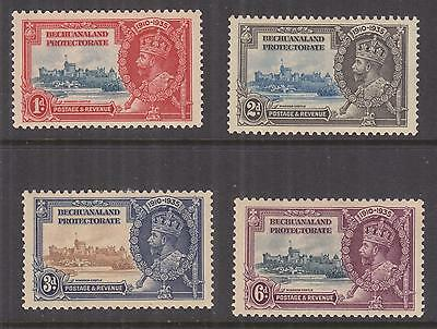 BECHUANALAND PROTECT., 1935 Silver Jubilee set of 4, heavy hinged mint, toning.