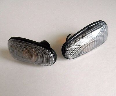 VAUXHALL ASTRA ZAFIRA 98-05 Pair Side Wing Indicators Repeaters - SMOKED