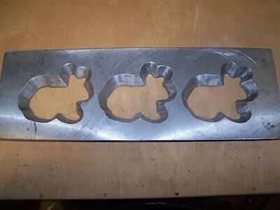 Rabbit Cookie Die Commercial Dough Depositor  ~ believed Champion 16x5.5 inches