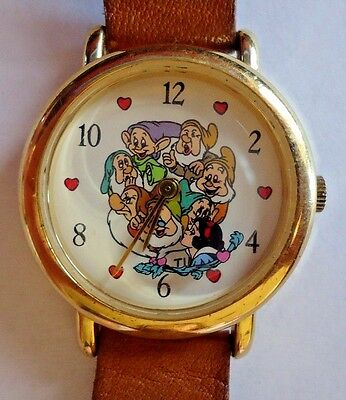 Vintage Snow White and the 7 dwarfs Disney watch by Timex