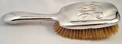 RARE Antique STERLING SILVER UNGER BROTHERS HAIRBRUSH Natural Bristles NR
