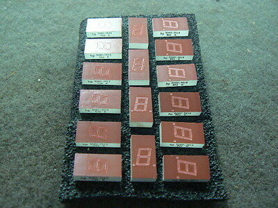 16 Piece Lot Vintage HP 5082-7613 LED Numeric Display, 7 Segment, 7.6mm, Red