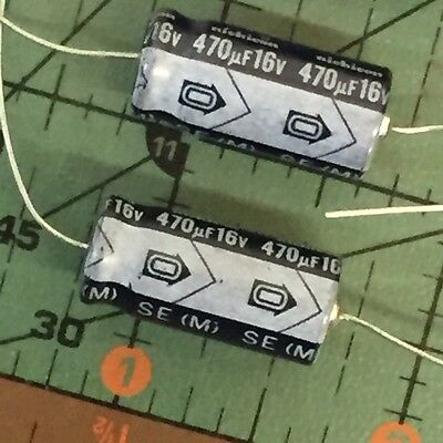 Nichicon Axial Electrolytic Capacitor 470uF 16v 85'C NOS 4pcs FREE SHIPPING