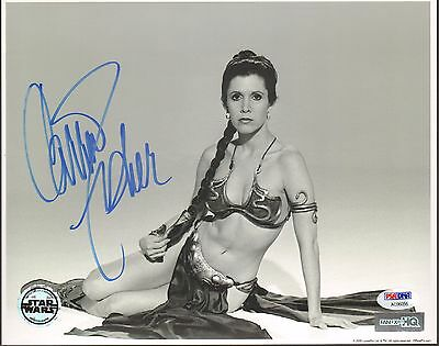 "CARRIE FISHER Signed STAR WARS ""Princess Leia"" 8x10 Photo PSA/DNA #AC96056"
