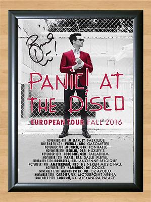 Panic! at the Disco Brendon Urie Signed Autographed A4 Photo Poster Memorabilia