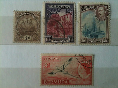 BERMUDA 4 X Stamps from various era's.