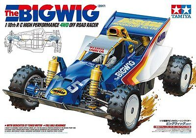 Tamiya 47330 1/10 RC Car 4WD Off Road Racer Buggy The Bigwig 2017 Re-Release SDA