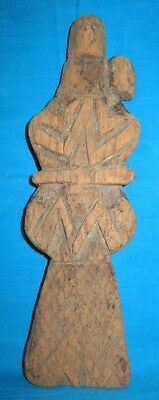 Vintage Collectible Hand Carved Man & Woman In Love Wooden Figurine