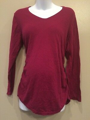 Oh Baby XL Maternity Long Fall Sweater With Roached Sides
