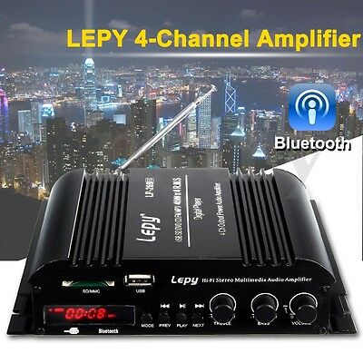 Lepy 45W*4 Channel HiFi Stereo Audio Amplifier Wireless Bluetooth Power Supply