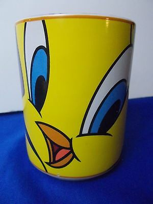 Tweety Bird Face Coffee Mug Cup 1998 Warner Bros Studio gibson Yellow tea