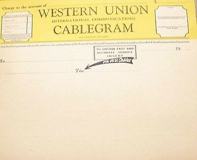 Western Union Cablegrams Vintage Lot of 12