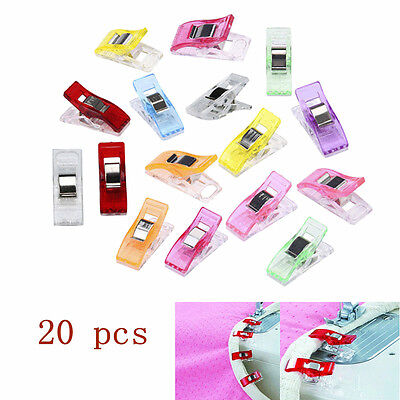 20pcs New Plastic Quilter Holding Wonder Clips Sewing Accessories Quilt Binding