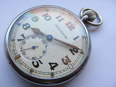 Vintage Jaeger-LeCoultre army pocket watch.