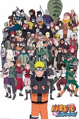 """NARUTO POSTER """"SHIPPUDEN"""" BRAND NEW """"LARGE SIZE 61cm X 91.5cm"""" GROUP"""