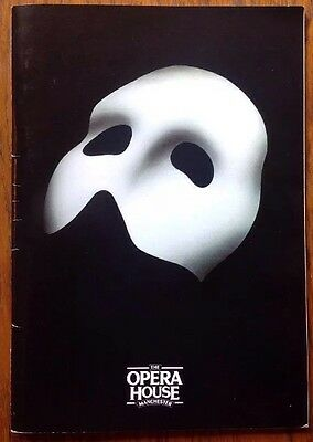 THEATRE PROGRAMME-THE PHANTOM OF THE OPERA-THE OPERA HOUSE, MANCHESTER 1990's