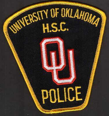 University Of Oklahoma Police Shoulder Patch  H.S.C  SOONERS