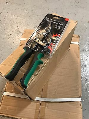 "JOB LOT! 250mm (10"") Right Cut Aviation Compound Tin Snips Sheet Metal Cutters"