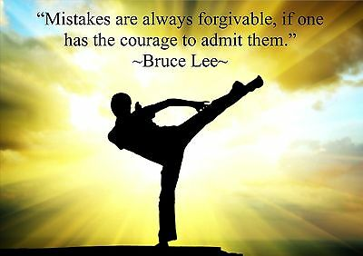 Bruce Lee A3 Inspiration Motivation Quote Poster Print Picture Forgive Mistakes