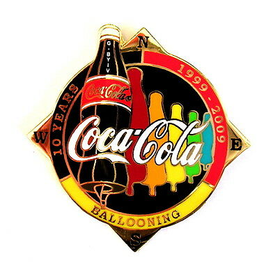 """COCA COLA """"SPECIAL SHAPE"""" Pin / Pins - FLASCHE """"10 YEARS"""" schwarz  G-BYIV [3685]"""
