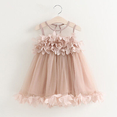 Toddler Kids Baby Girls Princess Dress Floral Pageant Wedding Party Tutu Dresses