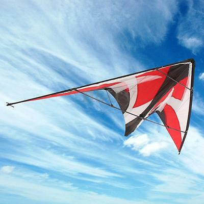 1.8m Surfing Triangle Delta Stunt Kite Dual Control Outdoor Fun Sports Toys Gift