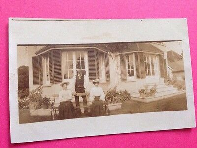 Antique Postcard Social History Picture Of Family  1900s Real Photo Postcard