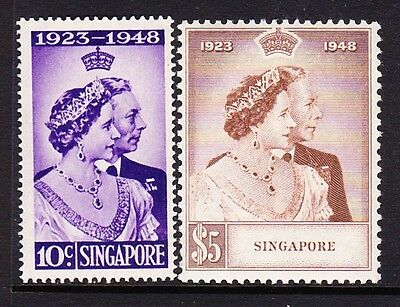 Singapore 1948 Royal Silver Wedding Sg 31-32 Mnh.
