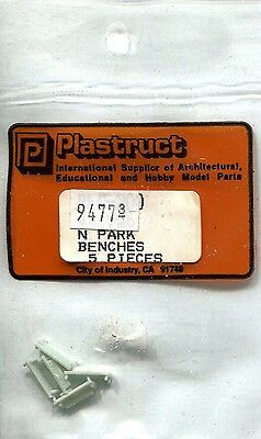 N Scale:  Plastruct  94773:  Benches