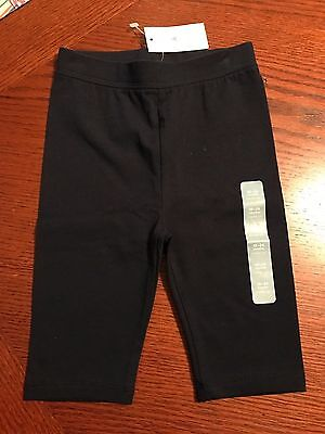 NWT BABY GAP BLACK CAPRI LEGGINGS 12-18 MONTHS  new