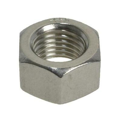 """Hex Standard Nut 7/16"""" UNF Imperial Fine Stainless Steel G304"""