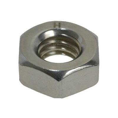 """Hex Standard Nut 1/2"""" BSW Imperial Coarse Stainless Steel G304"""