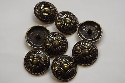 10pc 11mm Antique Pewter Honeycomb Effect Metal Cardigan Knitwear Button 3707
