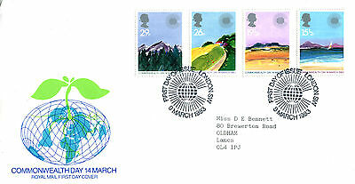 9 MARCH 1983 COMMONWEALTH DAY ROYAL MAIL FIRST DAY COVER LONDON SW SHS (w)