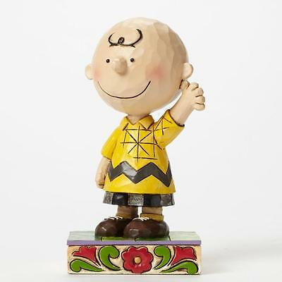 Jim Shore  serie Charlie Brown e Peanuts Charlie Brown good man resina