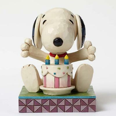 Jim Shore  serie Charlie Brown e Peanuts Snoopy Happy Birtday resina