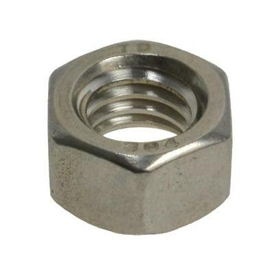 """Hex Standard Nut 7/8"""" UNC Imperial Coarse BSW Stainless Steel G304"""