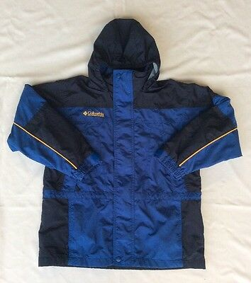 Youth Columbia Sportswear Rugged Peak 100% Nylon Full Zip Shell Jacket Y (10-12)