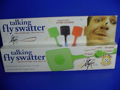 Talking Fly Swatter E & B Giftware Brands  Green Says Many Things NIB