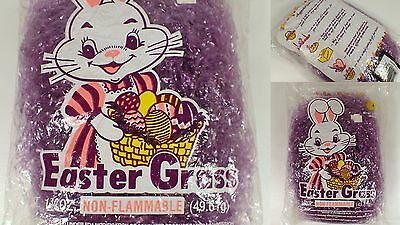 SEALED Vtg 1980 Cellophane Orchid Purple Easter Grass 1 3/4oz Package Decorative