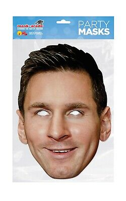 Lionel Messi Face Party Mask Card A4 Fancy Dress Sport Football Ladies Mens Kids